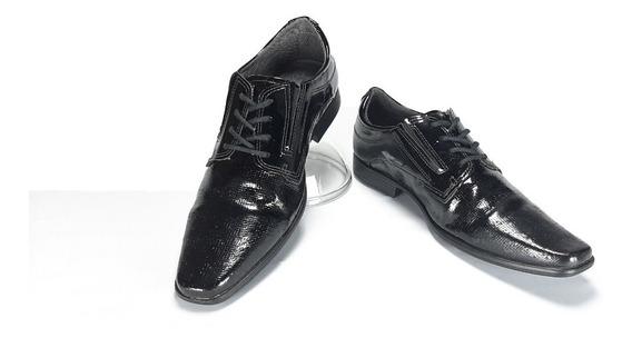 Sapato Social Pegada C/ Cadarço Verniz