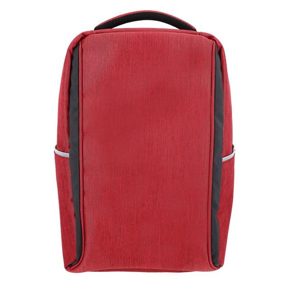 Mochila Antirrobo Roja Smart Carga Usb Note Celular Tablet