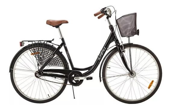 Bike Urbana Vintage Kayoba City Elegance Svart Preta Retrô