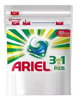 Ariel Jabon Para La Ropa Capsulas Power Pods X 62 Caps P&g