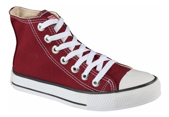 Tênis All Star Chuck Taylor Ct Cano Alto Bordô Vinho