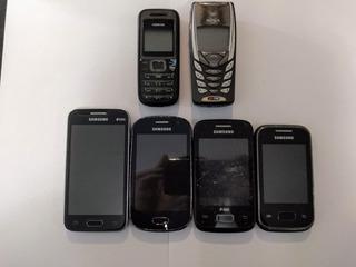 Celulares Samsung/nokia Para Retirada De Peças (6 Unidades)