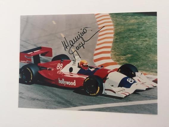 3 X Fotos De Mauricio Gugelmin - Fórmula Indy - Autografada