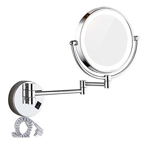 Imagen 1 de 7 de Dote Con Luz Led Espejo De Vanidad Maquillaje Dowry1803d Met