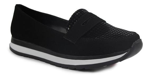 Zapatos Dama Casuales Clasben Tipo Ante Negros