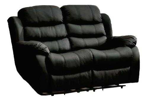 Sillon 2 Cuerpos Sofa Reclinable En Pu Living Beverly