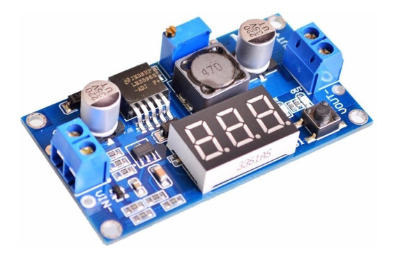 Regulador Tensão Ajustável Lm2596 Step Down Dc Dc + Display