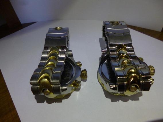 Lote Com 2 Relógios Ostentação Para Conserto Ou Peças