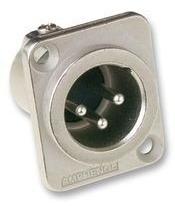 Conector Xlr 3p Macho Painel Ac3mmdz Amphenol