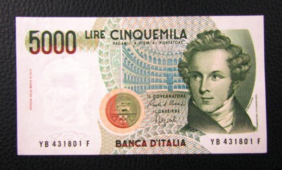 Italia Billete 5000 Liras P-111 B Unc 1985
