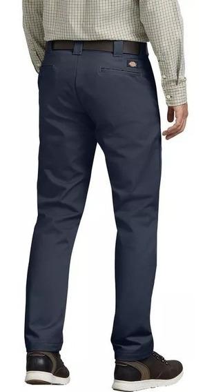 Dickies Wp830 Pantalón De Trabajo Corte Slim Fit Gris