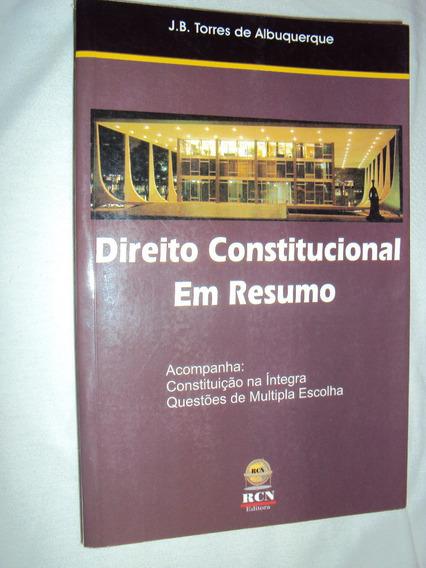 Direito Constitucional Em Resumo (sebo Amigo)