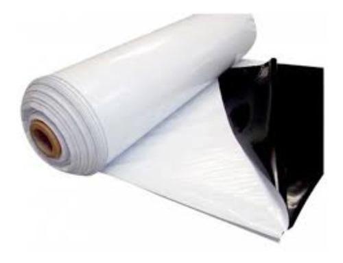 Nylon Blanco / Negro Silo Panda 120 Mic - Rollo 10 X 2 Mts
