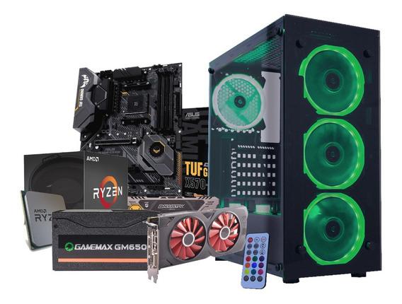 Pc Gamer Ryzen 7 2700 X570 Bls 2x 8gb 480gb Rx570 650w