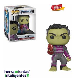 Hulk Marvel Con Guante Endgame Funko Pop Película Avengers