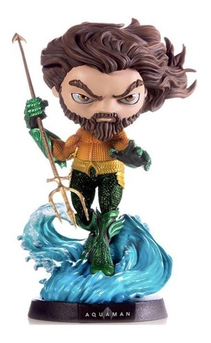 Estátua Aquaman Deluxe - Dc - Minico - Iron Studios