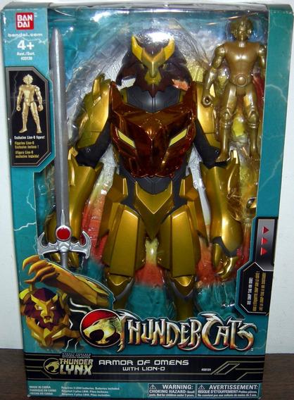 Thundercats Lion-o Armor Of Omens 30cm Luz Sons Novo Bandai