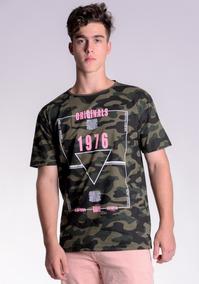 d3f9ed9b0c Camiseta Camuflada Rosa - Calçados