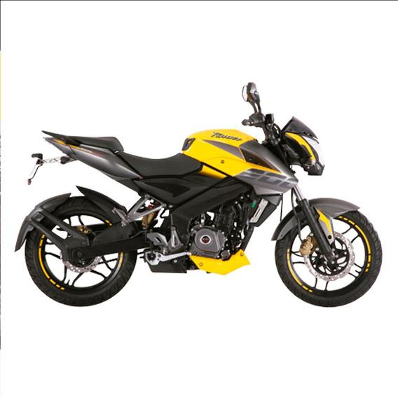 Moto Bajaj Rouser Ns 200 Amarillo - Nuevo Diseño Sport 0km
