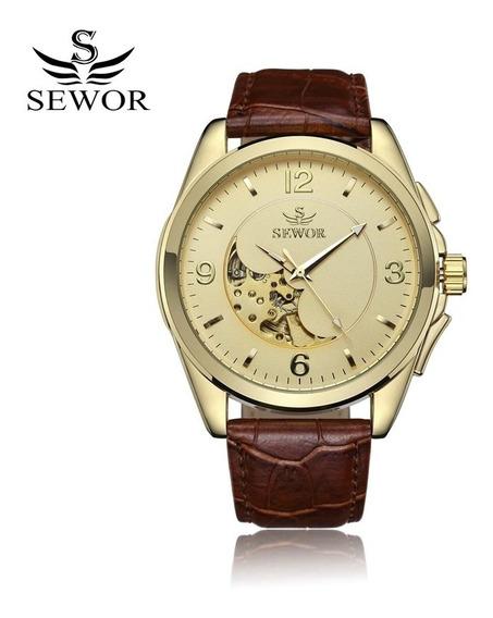 Relógio Automático Masculino Sewor, Elegante E Moderno.