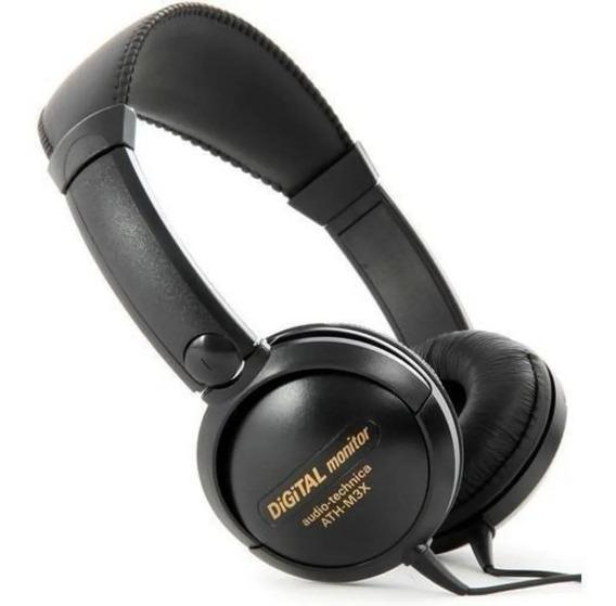 Fone De Ouvido Audio Technica Ath-m3x Preto
