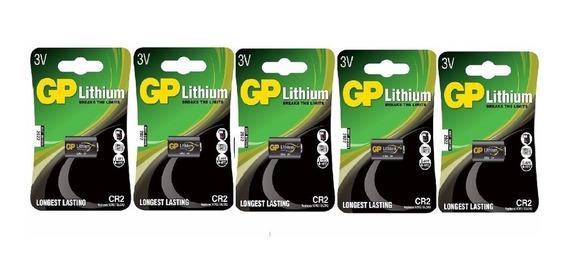 Bateria De Photo 3v Cr2 Gp Kit C/ 5 Unid.