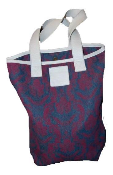 Puma Cartera De Jean Azul Estampada En Violeta Promo