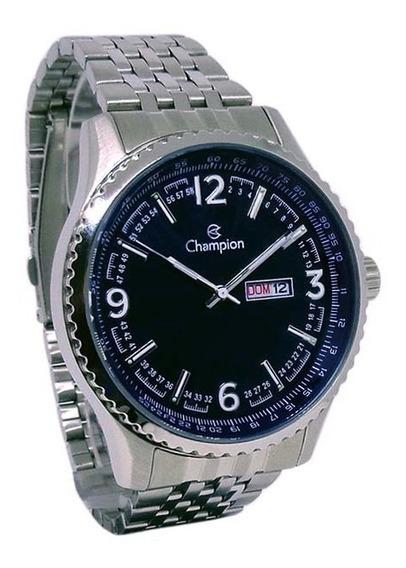 Relógio Champion Masculino Pulseira Prata Aço Inox 5atm Ca31604f
