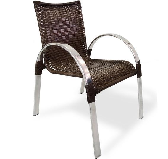 Cadeira Área Varanda Alumínio Junco Fibra Sintética