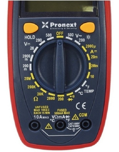 Multimetro Tester Digital Ts33c Pronext Ts