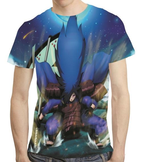 Camisa Naruto Shippuden Camiseta Madara Estampa Total Mod 04