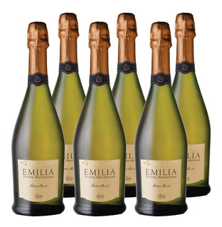Champagne Emilia Nieto Senetiner E. Brut 6 Botellas De 750cc