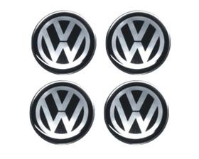 Emblema Volks W Botom Calota Roda Resinado 51 Mm - 4 Peças