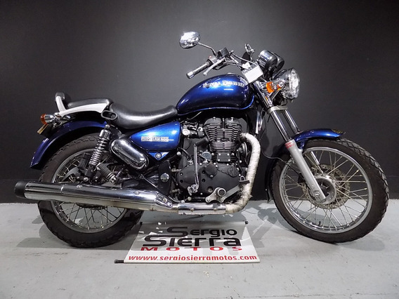 Royal Enfield Rumbler500 Azul 2015