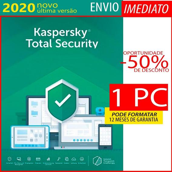 Kaspersky Total Security 1 Pc 1 Ano Envio Imediato