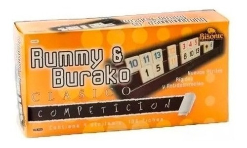 Imagen 1 de 3 de Rummy Y Burako Clasico Competicion Bisonte 9681