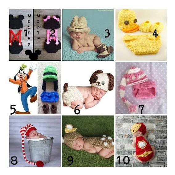 Kit 5 Conjunos Foto Bebe Croche 3-6 Meses