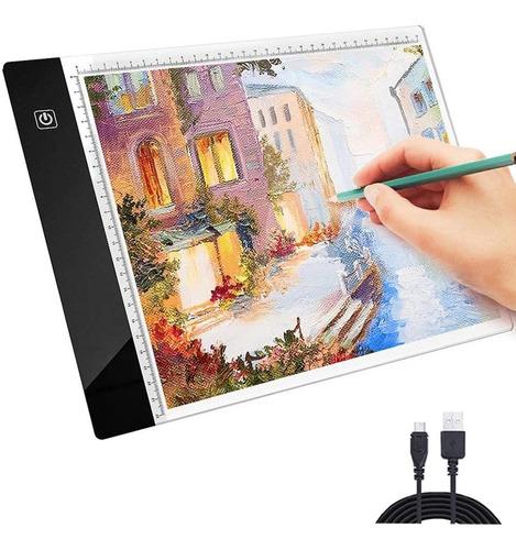 Imagen 1 de 7 de Tableta De Dibujo Amyty Portátil Tamaño A4 Con Luz