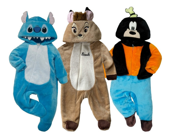 Kit 3 Mamelucos Disney Stitch, Bambi, Goofy A Precio De 2