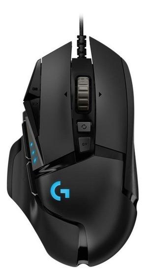 Mouse Gamer Logitech G502 Rgb 16000dpi Com Fio Novo