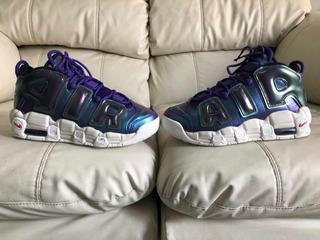 Tenis Nike Air More Uptempo Iridescent Purple 24mx Dama Niño