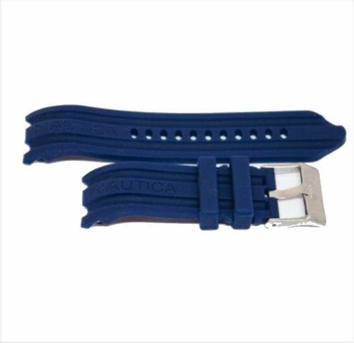 Pulseira Nautica 24mm Azul Escuro Frete Grátis