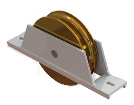 Roda Para Portão De Aluminio Com Rolamento 3`` Polegadas 2un