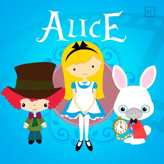 Convite Animado Alice No Pais Das Maravilhas