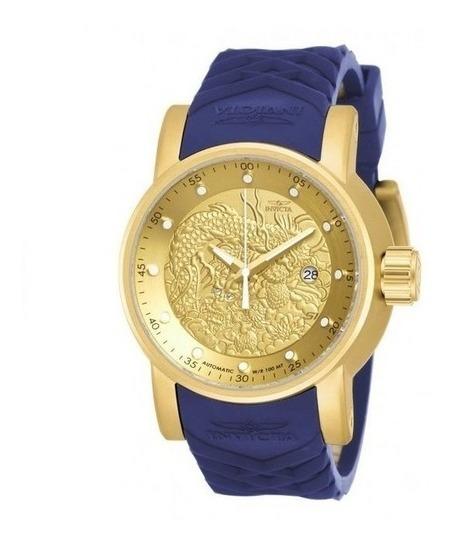 Relógio Invicta 19546 Dragao Azul Automático - Yakuza