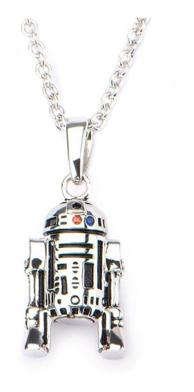 Cadena Dije R2-d2 Star Wars Acero Inoxidable Disney
