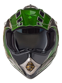 Capacete Texx Speed Mud Verde Metalico Xxl-64