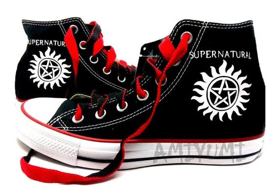 Tênis Supernatural All Star Converse Personalizado Botinha