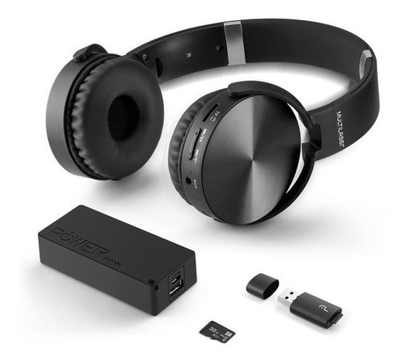Headphone + Power Bank 4000mh+ Micro Sd 32gb C/ Leitor Mc250