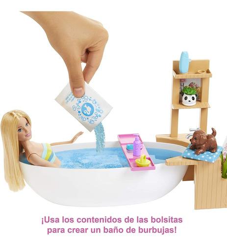 Barbie Muñeca Y Su Bañera De Burbujas Original De Mattel